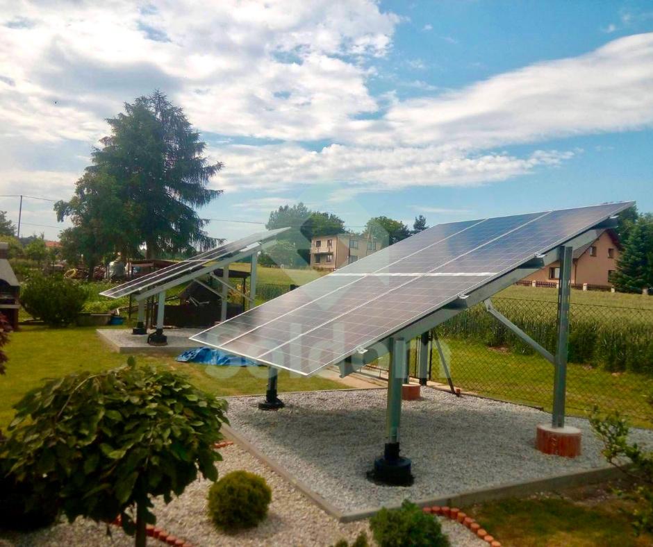 Instalacja naziemna w miejscowości Dębowiec o mocy 4,05 kWp